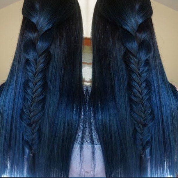 Pin for Later: 25 Midnight-Blue Hair Ideas That Will Inspire Your Next Moody Look