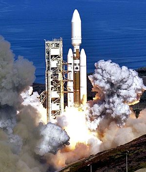 Titan IV Centaur launch, Vandenberg Air Force Base, Central California, October 2005