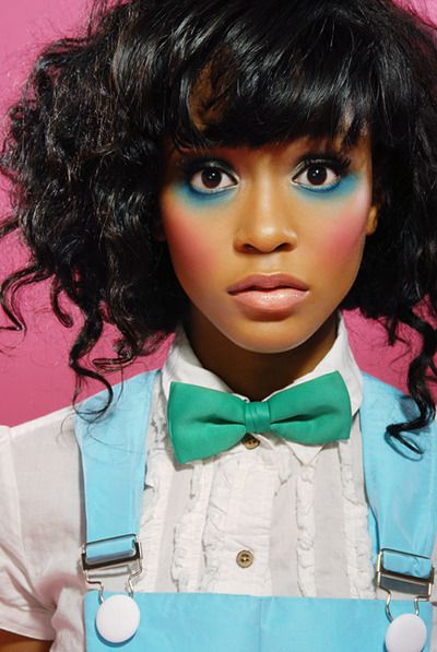 Simone Battle has a really neat doll-like look going on here. This is pretty…