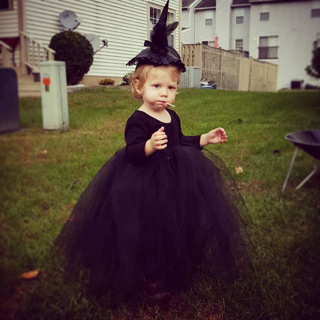 easy diy toddler witch costume little girl costume - Toddler And Baby Halloween Costume Ideas