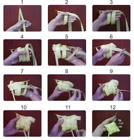 How to Make Ketupat.  Usana Malaysia Health Benefits. http://distributorusana.blogspot.com/