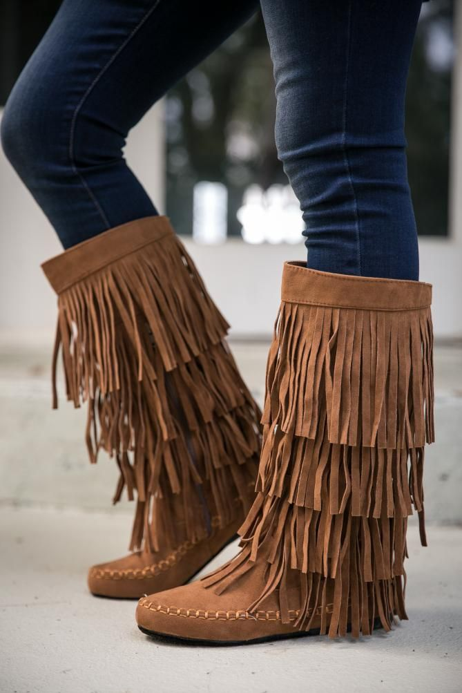 Pink Coconut Boutique | My Best Fringe Boot - Rust
