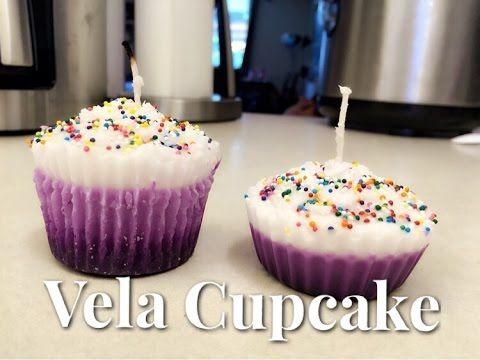 DIY Velas Em Forma De Cupcake