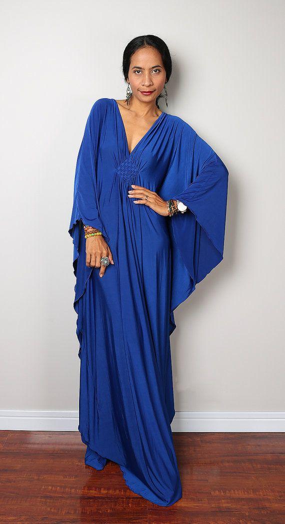 Maxi Dress Kimono Butterfly Blue Maxi Dress : Funky от Nuichan