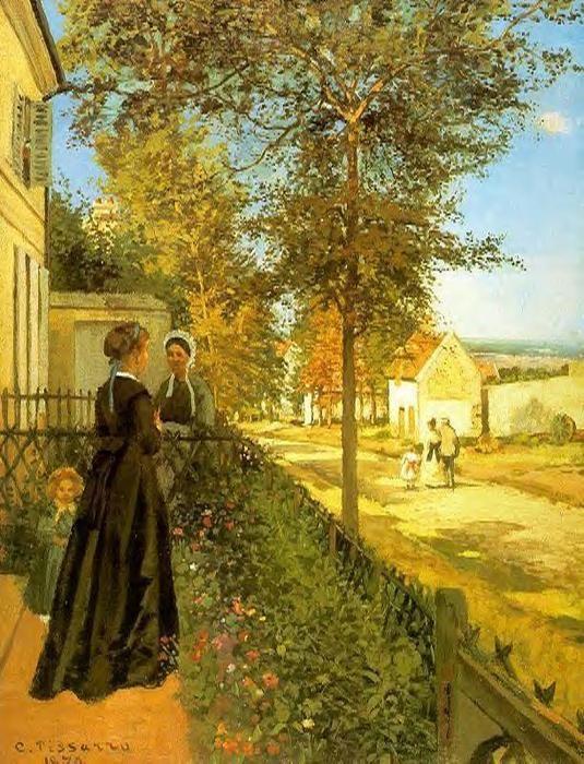 Louveciennes: o caminho para Versailles, óleo sobre tela Camille Pissarro (1830-1903, Ilhas Virgens)