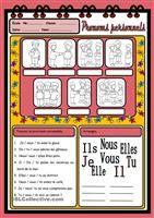 Exercice :écrire les pronoms toniques manquants dans une conversation. Vocabulaire simple pour débutants. Solutions - Fiches FLE