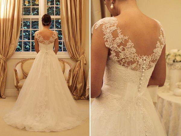 Vestido de Noiva: Saia de Tule com Renda Aplicada | Noivinhas de Luxo