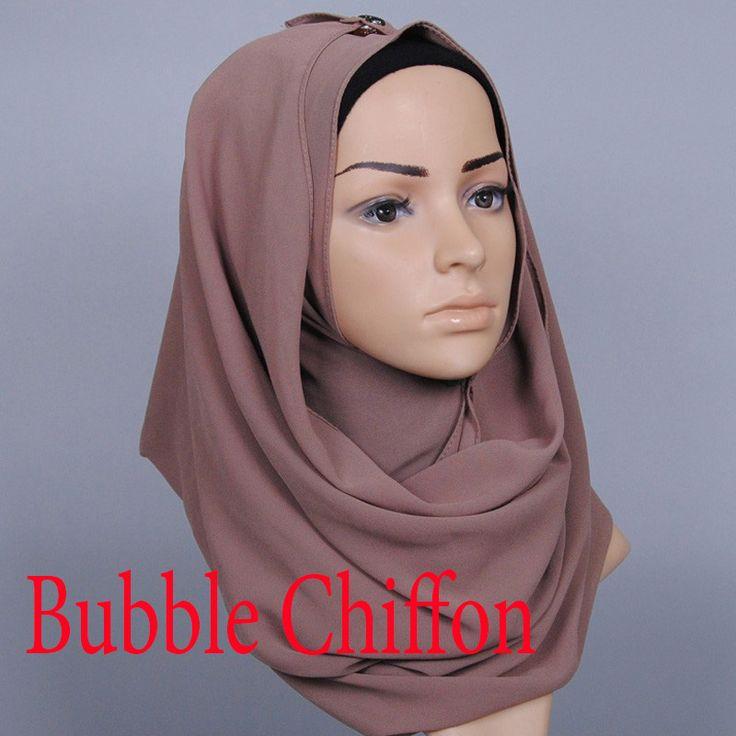 Nuovo Colore Musulmano hijab donne islamiche hijab Musulmano hijab jersey hijab sciarpa bolla chiffon scialli sciarpe pianura WL2461