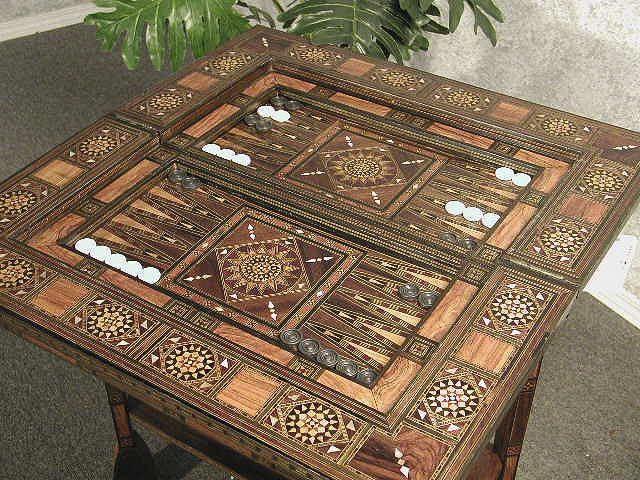 Syrian, High quality luxurious backgammon table set   Orient Caravan Blog
