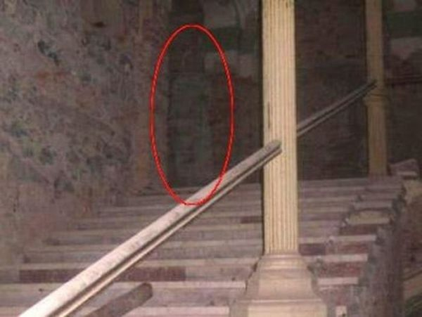This picture was taken in 2008 at the then-under-construction Decebal Hotel in Romania. There had long been reports of a ghostly woman in a long white dress on the premises