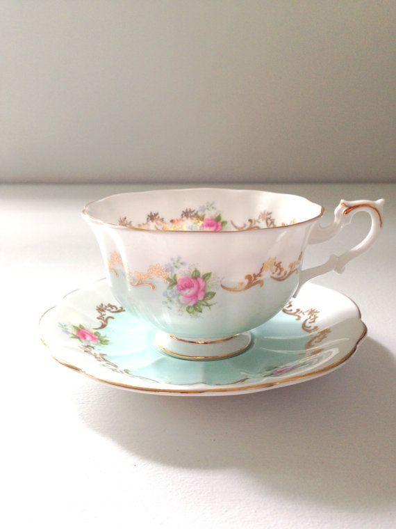 English Bone China Royal Albert Tea Cup and by MariasFarmhouse, $195.00