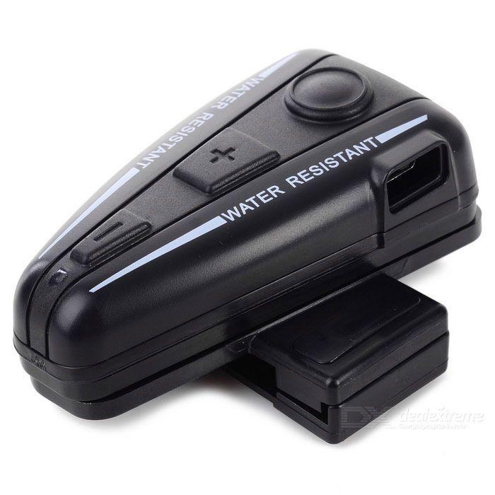 Helmet Bluetooth Motorcycle Interphone Intercom Headset - Black - Free Shipping - DealExtreme