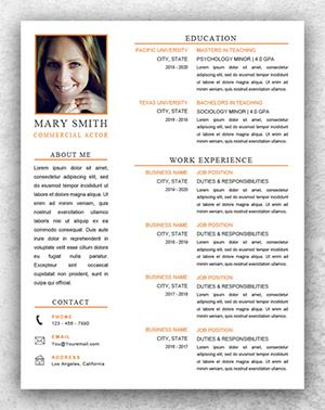 acting resume template word resume template start. Resume Example. Resume CV Cover Letter