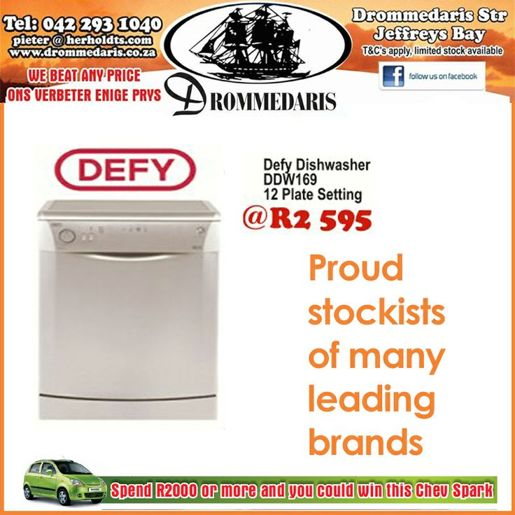 #Drommedaris are proud stockist of Defy products. Prices were for November 2013 only. #appliances #birthdayspecial