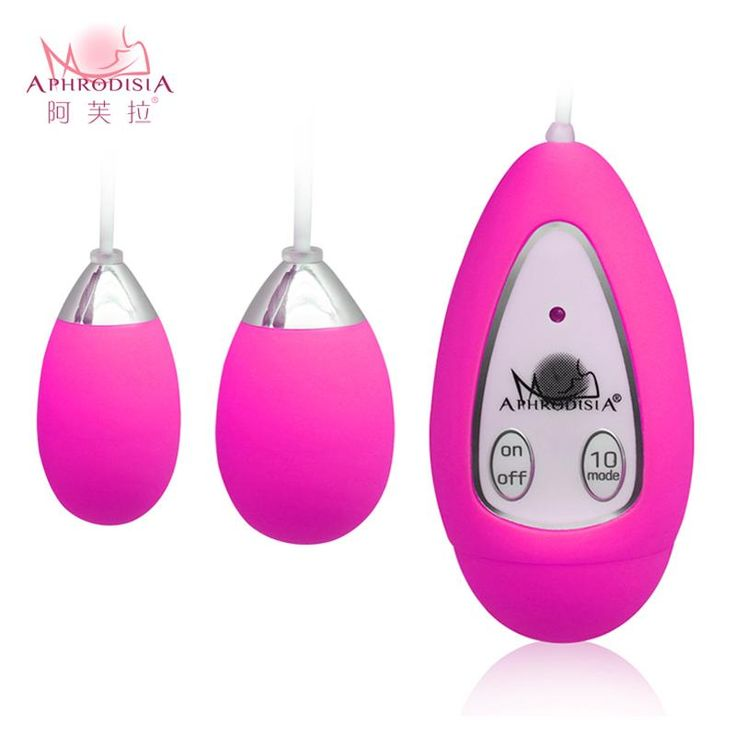 Silent Waterproof Double Vibrating Eggs 10 Speed Frequency Vibraton