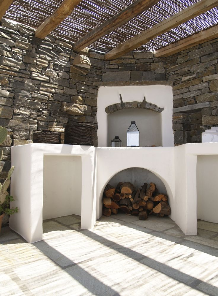 Open Air Built Oven Paros Greece Brazil Houses