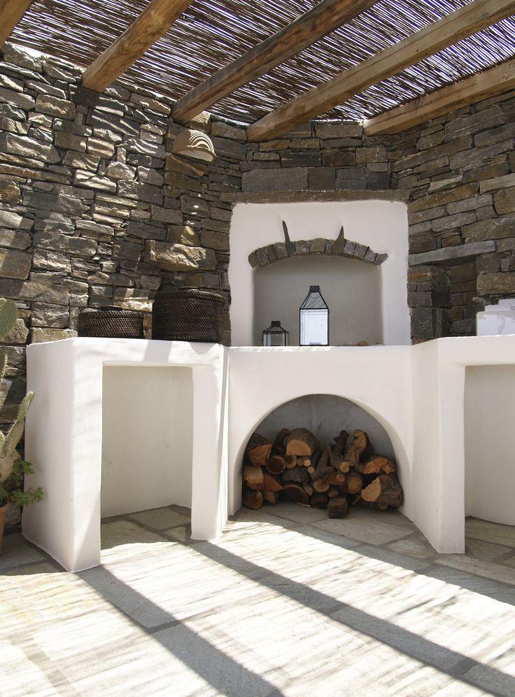 Open air built oven. Paros, Greece