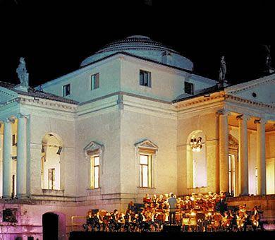 Villa La Rotonda is near Vicenza and is the model for Thomas Jefferson's home in Monticello.