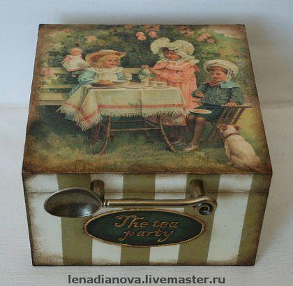 """Шкатулка для чая """"The Tea party"""" - чайная коробка,чайная шкатулка,шкатулка для чая"""