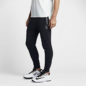Nike Court; trainingsbroek voor heren met rits aan onderzijde