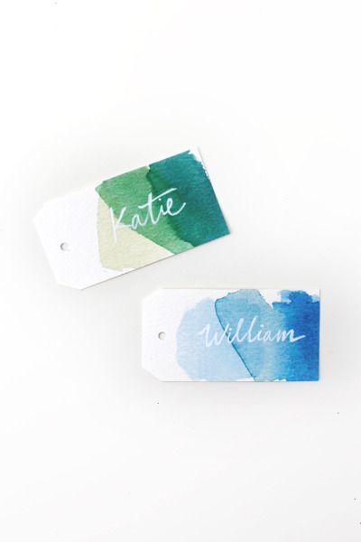 Watercolor gift tags: http://www.stylemepretty.com/living/2014/12/15/free-printable-watercolor-gift-tags/ #SMPHolidays