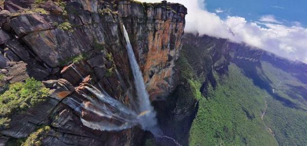 أين توجد أعلى شلالات في العالم Waterfall Angel Falls Venezuela Fallen Angel