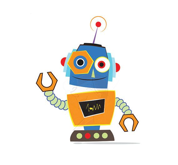 animated robot clipart - photo #21