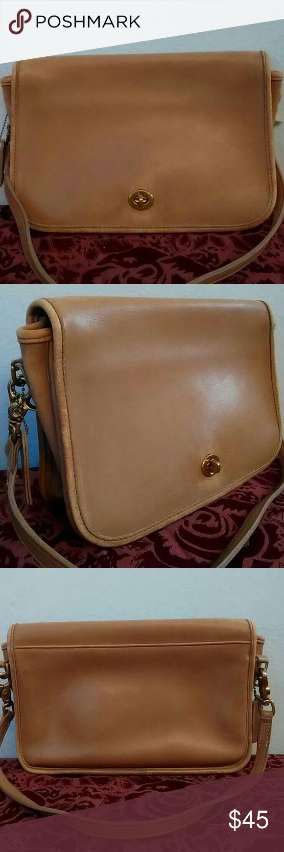Vintage Coach Satchel Authentic vintage Coach leather handbag, hard to find Coach, brass hardware. Coach Bags Shoulder Bags