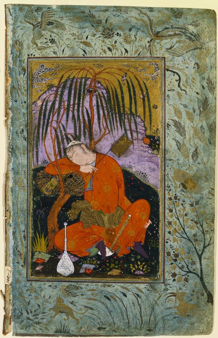 Sleeping Youth Isfahan, Iran. Safavid Period. 16th Century.