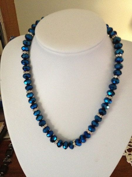 Metallic Blue Necklace