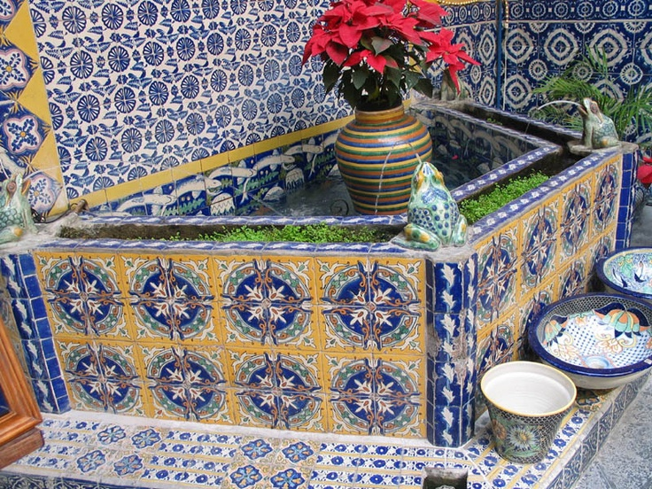 38 Best Images About Mexican Tile Fountains On Pinterest