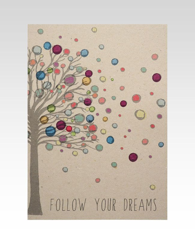 """""""Follow Your Dreams...""""  Stunning designer print by RhiCreative!  Makes a beautiful addition to any baby or childs room and a unique baby gift idea!  A4 Digital Print measures 21cm W x 29.7cm H."""