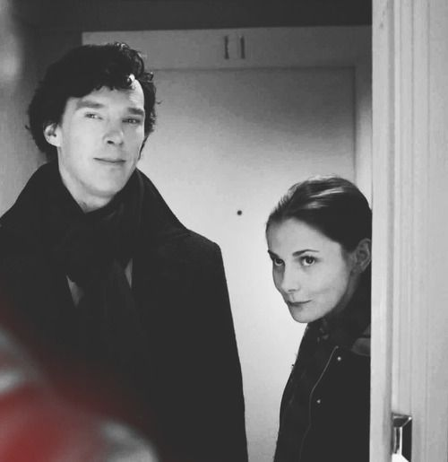 Oh their faces. I just adored their little tag-team. #Sherlock #Molly. I love this photo