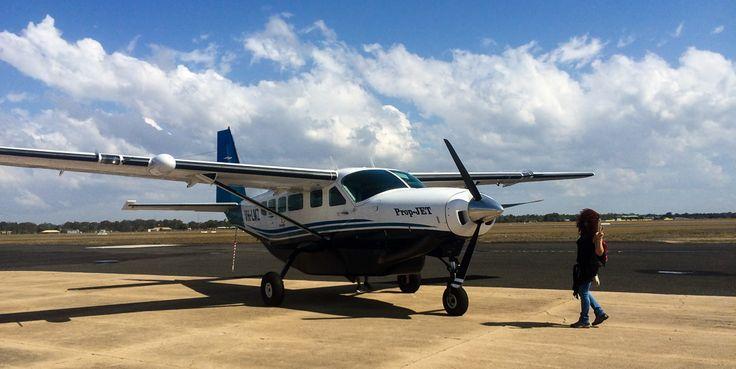Avioneta para llegar a la maravillosa Lady Elliot Island, en mitad de la Gran Barrera de Coral.  Si quieres saber más, visita https://www.losmundosdeceli.com/guia-viaje-australia-por-tu-cuenta/