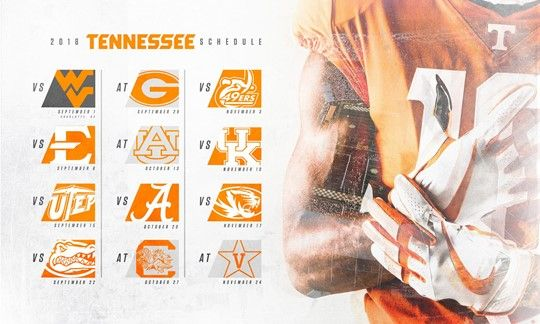 Tennessee Football Announces 2018 Schedule