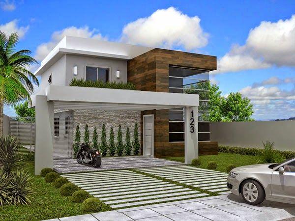 Front Elevation Design For Houses : Fachadas de casas com madeira veja modelos modernos e