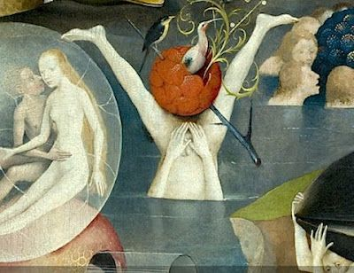 Hieronymus Bosch, The Garden of Earthly Delights (detail), between 1490 and 1510 (Prado, Madrid)