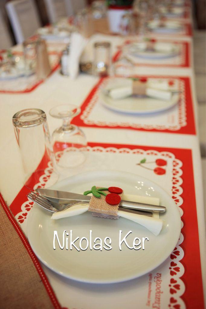Στολισμός βάπτισης με κερασάκια !!! #decoration#baptism#cherries#souplat www.nikolas-ker.gr