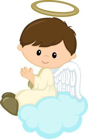 angelito sobre nube. colgante