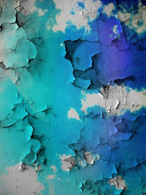 .: Colour, Beautiful Blue, Peeling Paint, Blue Wall, Colors, Texture, Original, Paint Splotches