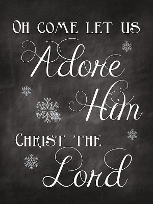 Sweet Blessings: Christmas Chalkboard Printables