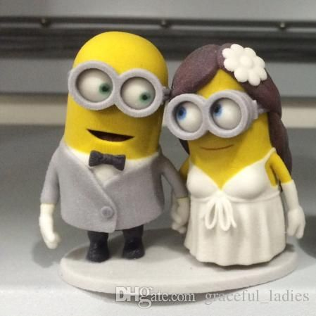 Wedding Decoration Idea Funny Wedding Cake Toppers Custom Dispicable Me Minions Handmade 2015 Table Centerpieces 2015 Mrs & Mrs 60th Birthday Cake Toppers Cheapest Wedding Decorations From Graceful_ladies, $73.3| Dhgate.Com