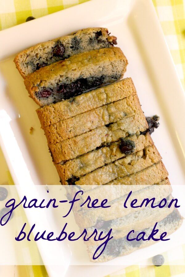 Grain Free Lemon Blueberry Cake (Gluten Free, Paleo-Friendly!) You'll never know it's grain-free - it's THAT good!!!