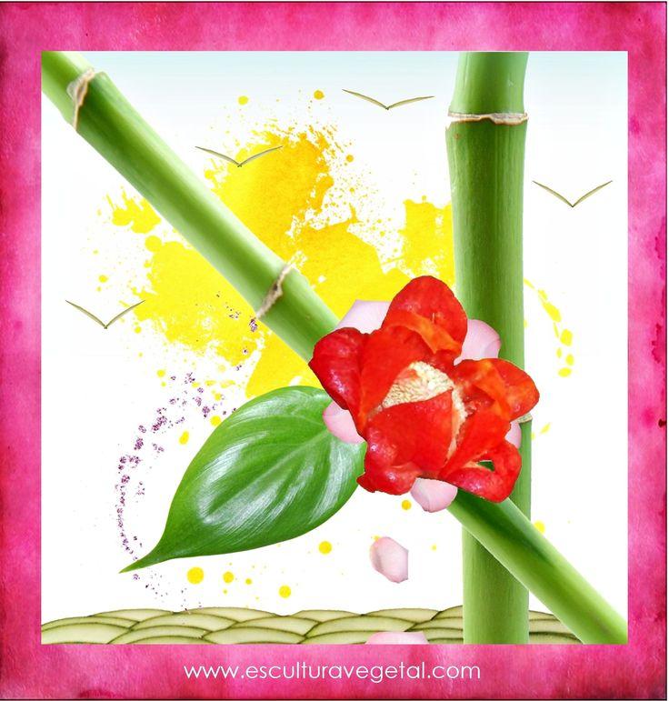 Flor de Pimentón www.esculturavegetal.com
