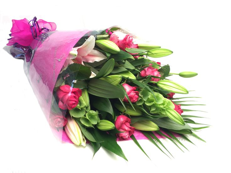 Gift wrap of lilies and roses - Donvale Flower Gallery