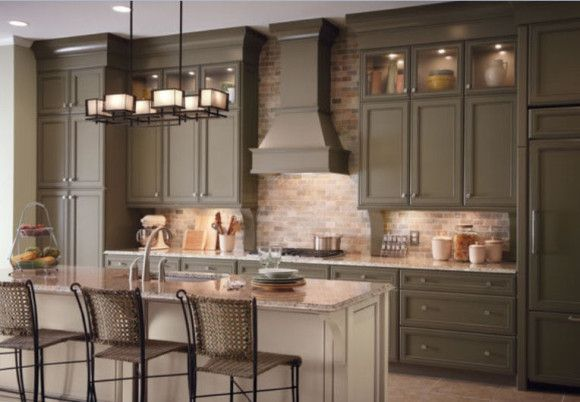 color ideas for kitchen cabinets khaki cabinets no i pinned for brick backsplash ideas 8251