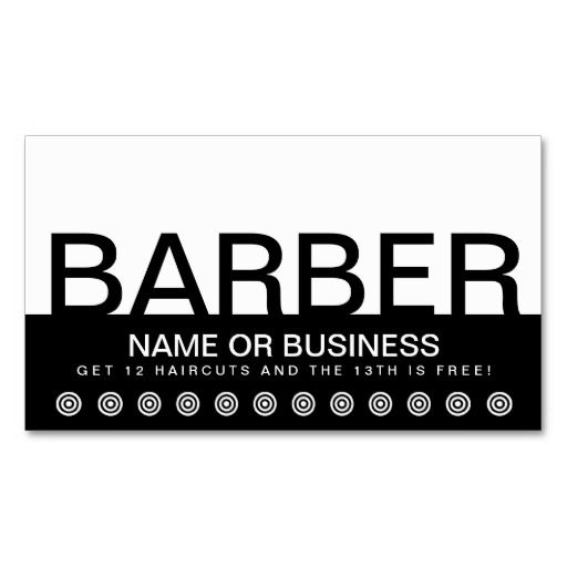 Best Barber Business Cards Images On Pinterest Barbershop - Barber business card template