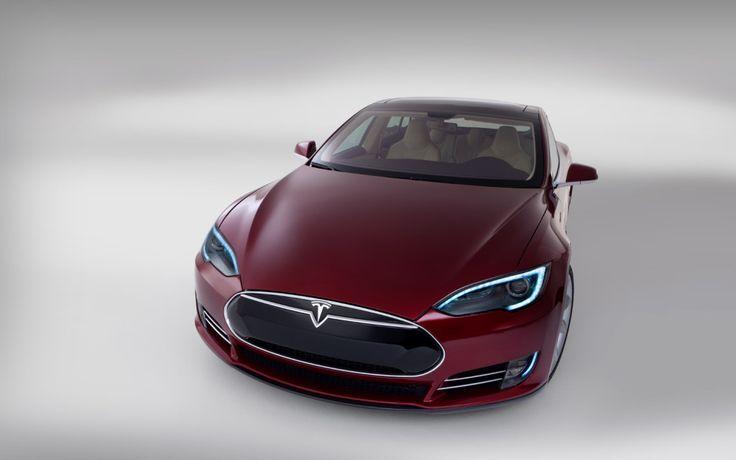 Beautiful Tesla S Model car