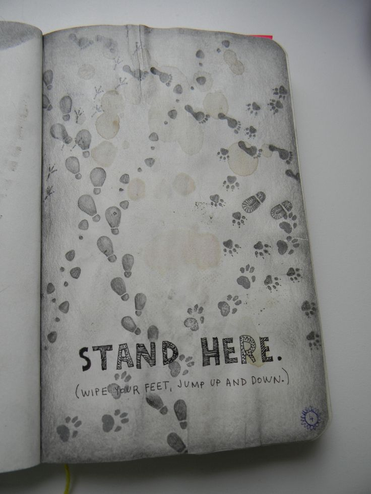 """Maybe a Maurader's map take off? """"Stand Here"""" Page #wreckthisjournal"""