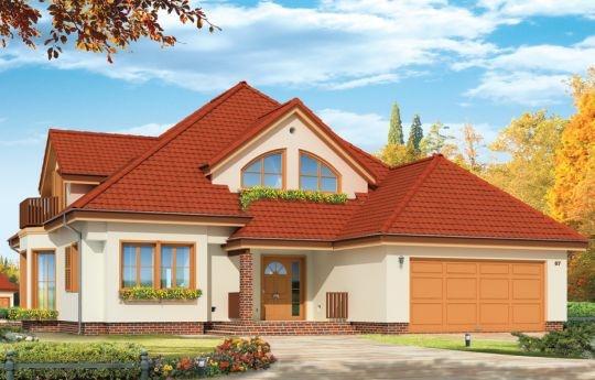 Projekt Hornówek 2 to wersja wariantowa projektu Hornówek. Przestronny i wygodny dom z dwustanowiskowym garażem wbudowanym w bryłę budynku, zaprojektowany dla 4-5 osobowej rodziny. Dom doskonale nadaje się na wąską działkę. Zmiany, jakie wprowadzono w projekcie, w stosunku do wersji podstawowej: zaprojektowano duży wykusz w jadalni z nisko osadzonymi oknami, zlikwidowano tylnią werandę - podcień, otwierając salon bezpośrednio na ogród przez szerokie przeszklone drzwi.